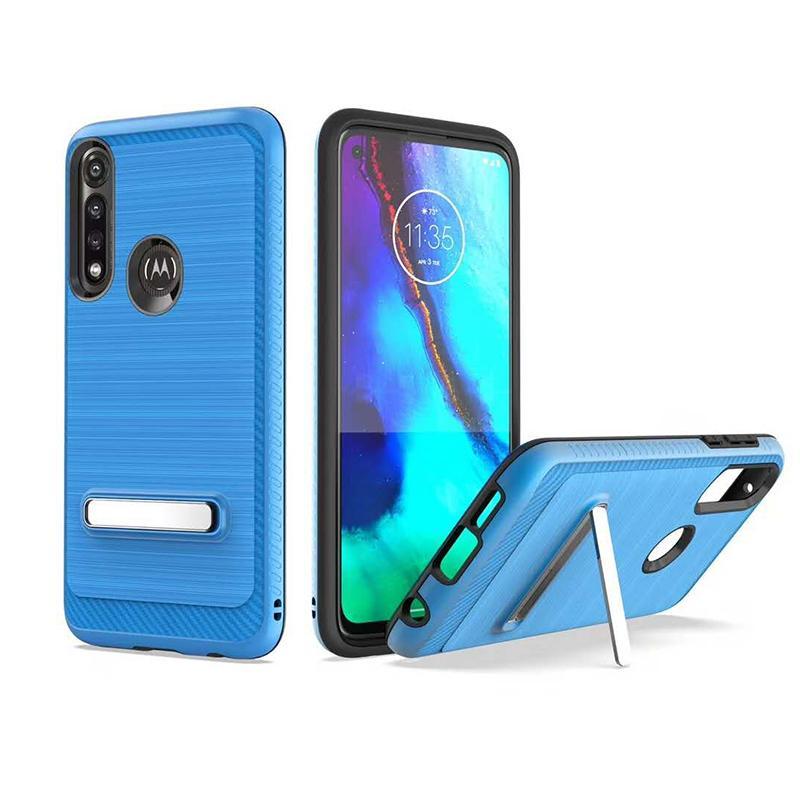 TPU PC Phone Case pour iPhone, étui de téléphone cellulaire avec support stand 3 en 1 forMOT0 G8 FAST / G FAST iPhone 12 cas