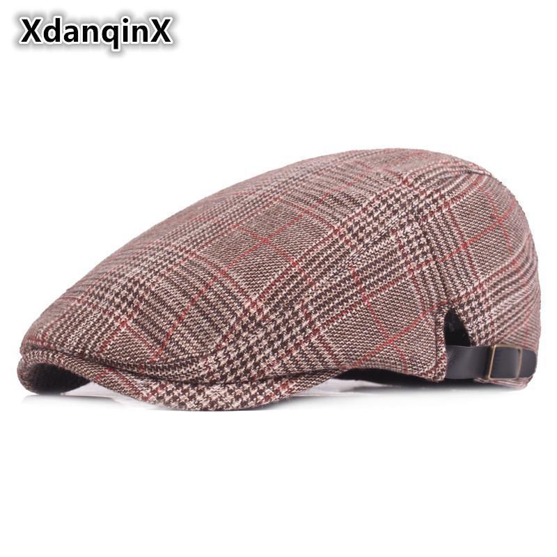 Cappelli Cappello Trucker cappello di inverno degli uomini modo casuale Retro cotone Berretti Outdoor Sports Tongue Cap Maschio Bone di papà per i giovani