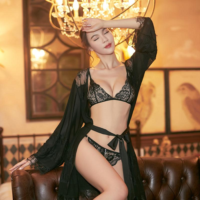 Bobowo Sexy Nuisette sexy en dentelle Pyjama Sous-vêtements européens et américains adultes Chemise de Nuit