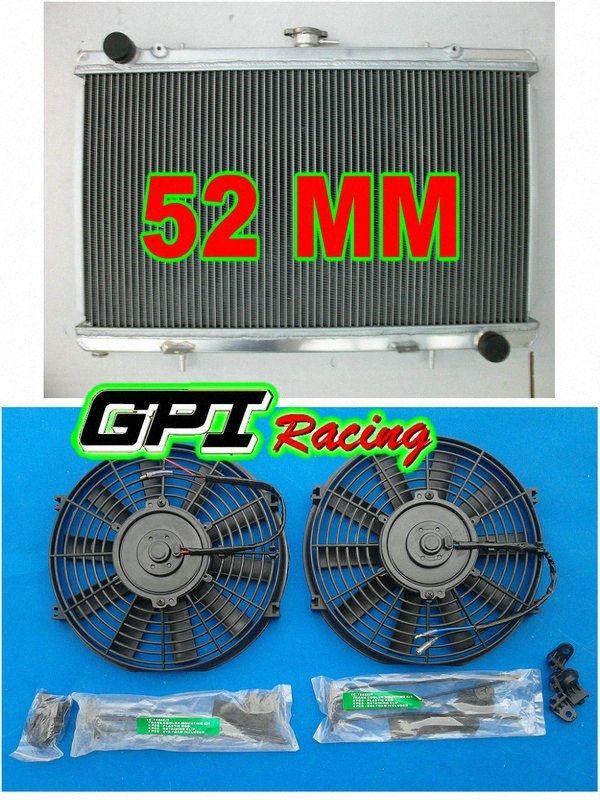 алюминиевый радиатор для Сильвии S13 SR20DET 89-94 MT 90 91 + бандажные + вентиляторы iO55 #