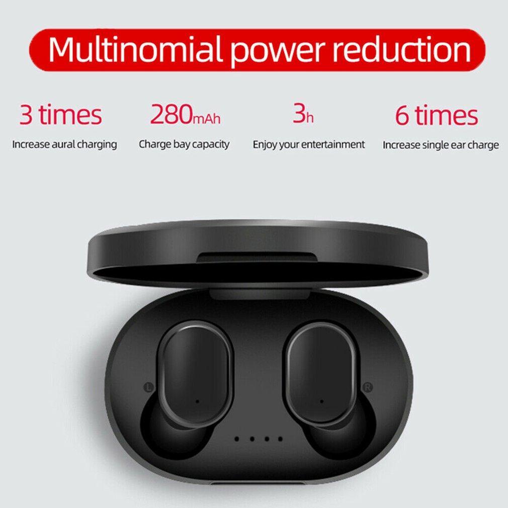 A6S TWS Bluetooth 5.0 Kulaklık Gürültü Önleyici Fone Xiaomi redmi Airdots Kablosuz Kulaklık için Kulaklık ile Mikrofon Eller serbest Kulaklık