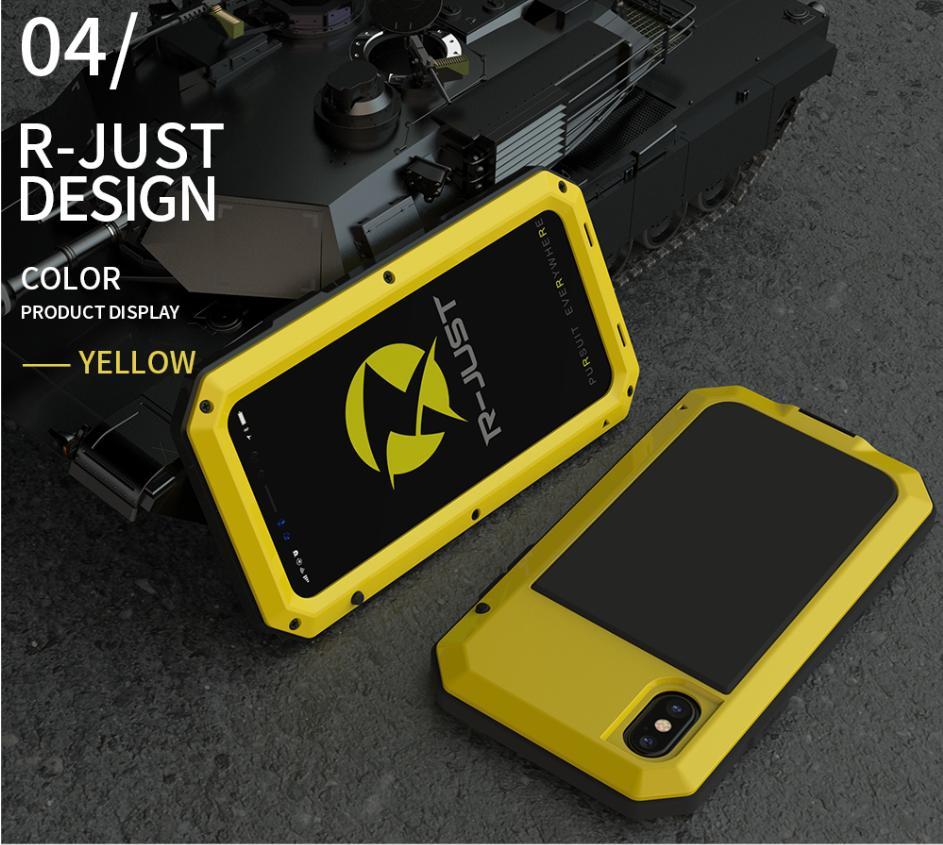 Darbeye dayanıklı zırh metal alüminyum telefon kılıfları iphone 11 pro xs max xr x 7 8 6 6 s artı 5 s 5 se tam koruyucu tampon kapağı