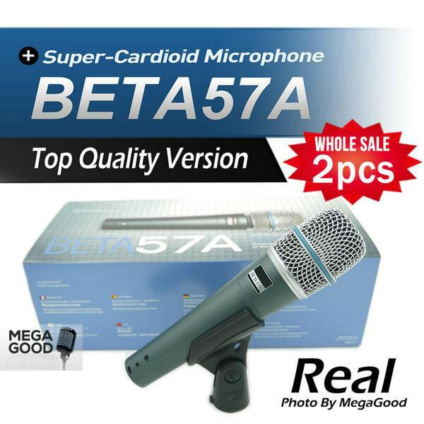 Beste microfono 2ST Top-Qualität Version BETA57 Professionelle BETA57A Karaoke Hand Dynamische Wired Mikrofon Beta 57A 57 A frei mikrafon