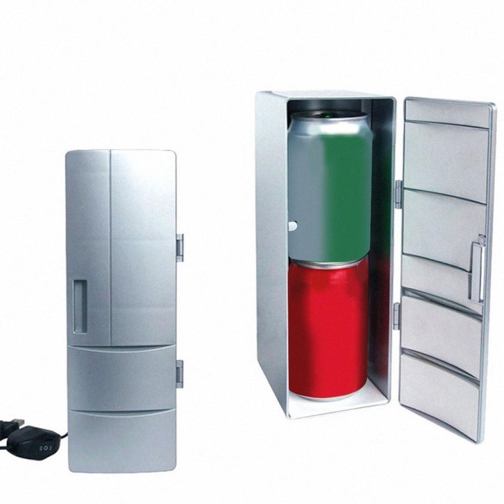 DC12V coche universal HOTCOLD doble USB Mini Mini USB Frigorífico Ministerio del Interior pequeño refrigerador Dropship Inzn #