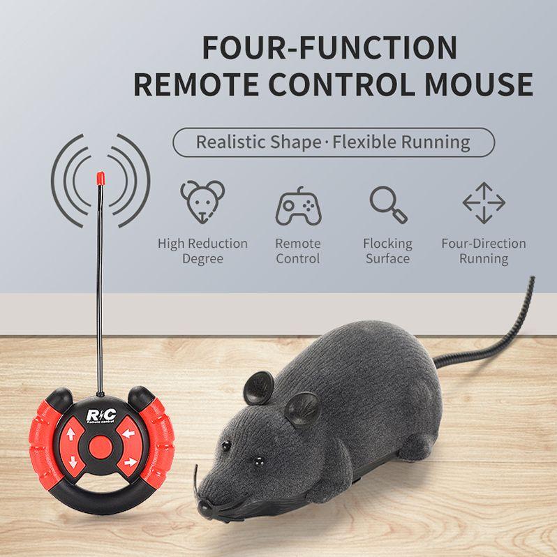 RC Tiere Remote Grau Ratte Elektronische Lustige Spielzeug Katze Wireless Mäuse 05 für Maus Maus Kinder Spielzeug Haustier Spielzeug Geschenkkontrolle KTGXM