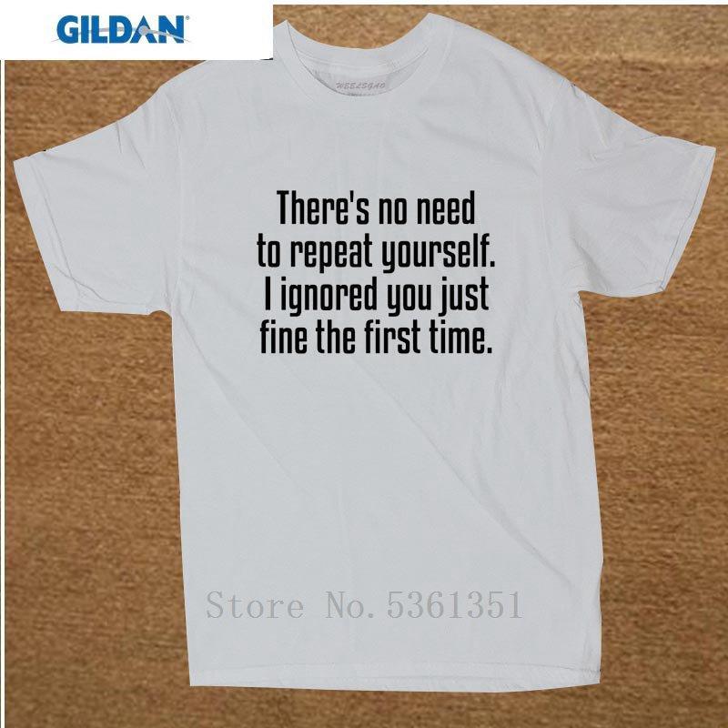 Мода Там нет необходимости повторять себе Rude тенниски смешного Новизна Tshirt мужские короткий рукав Camisetas Одежду Tshirt