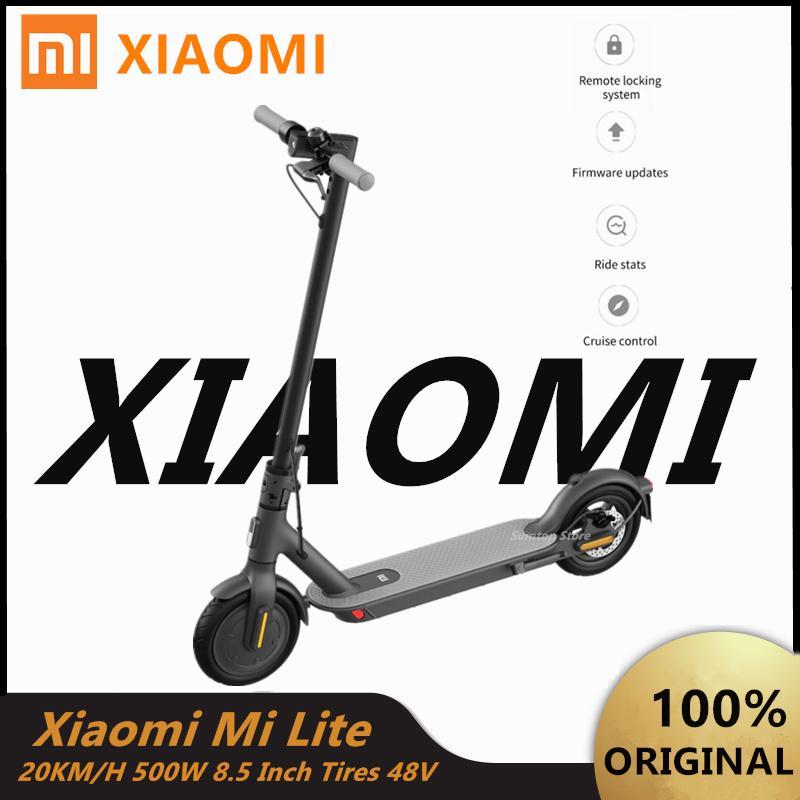 EU-Aktie Original Xiaomi Mi Lite Elektroroller Essential 20km / H 8,5 Zoll Reifen Erwachsene Mijia Smart Skateboard Faltbare Zwei Räder Roller