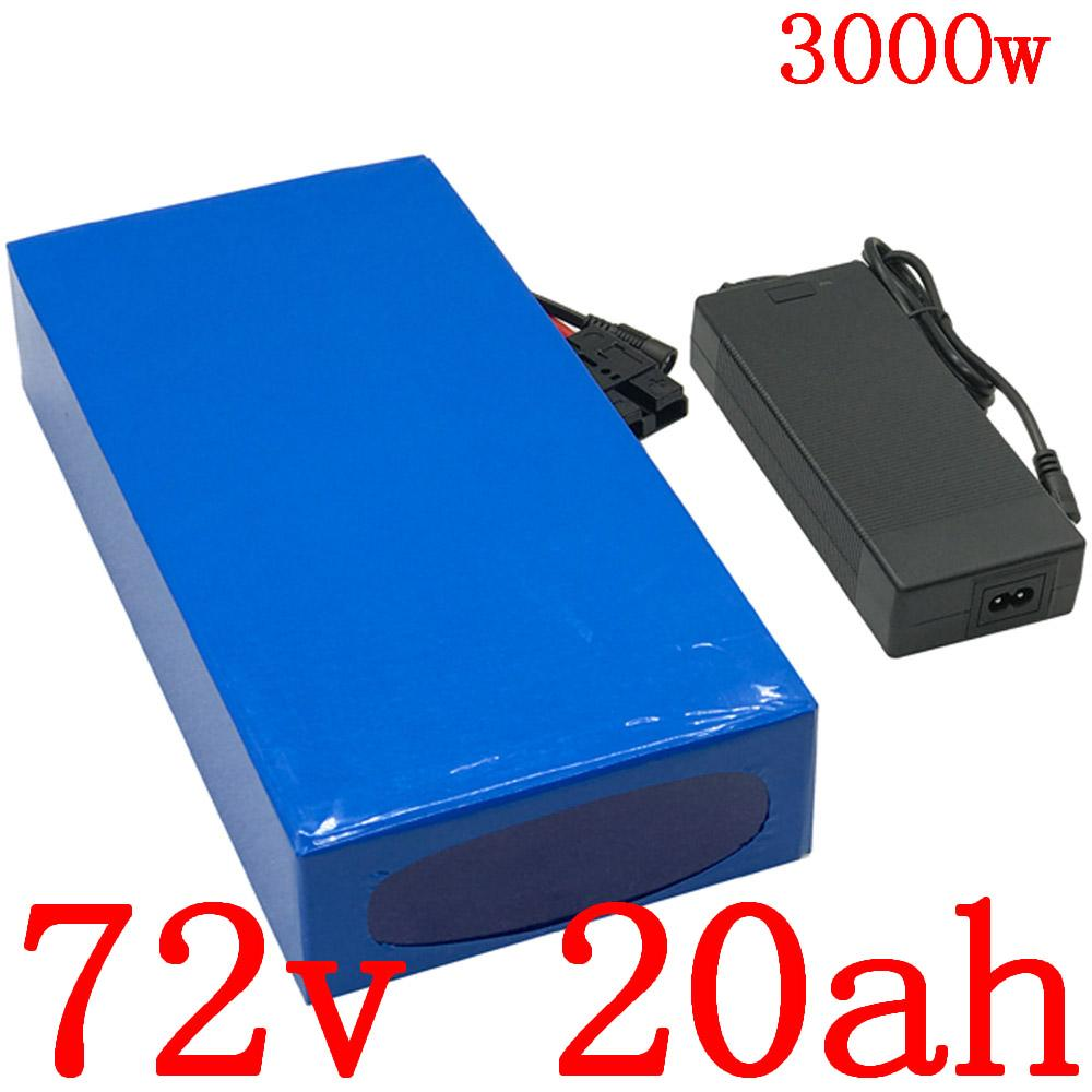 Şarj duty free ile 72V 20AH Lityum pil 2000W 3000W elektrikli scooter bisiklet