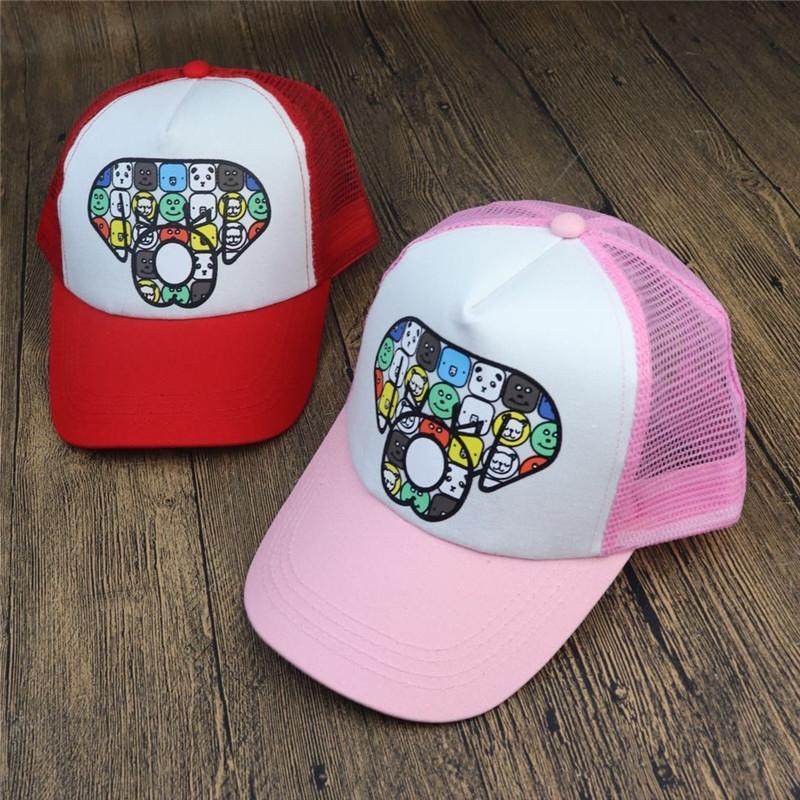 2020 nueva red de béisbol del sombrero de los niños coreanos casuales casquillo neta de béisbol masculino y femenino del sombrero del sol del recorrido del casquillo del bebé de los niños