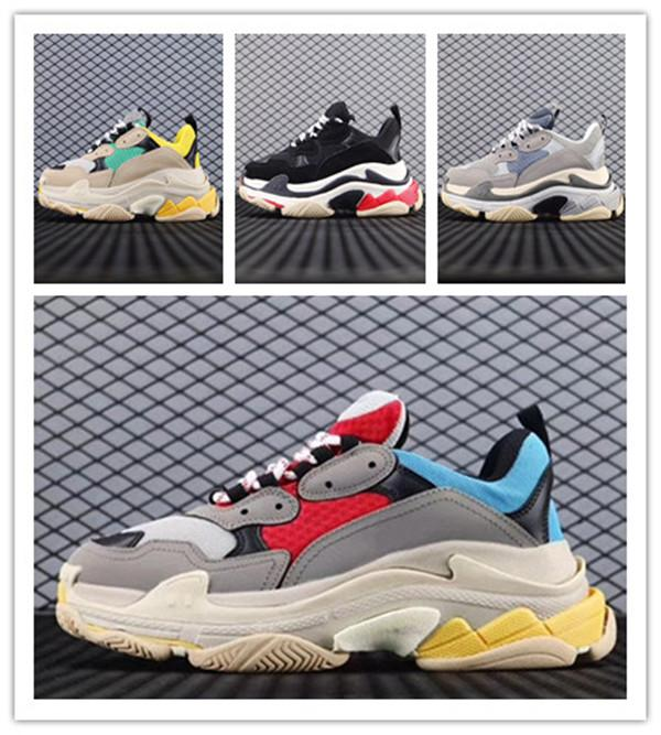 Top Quality 2020 17FW Triple s Fashion Sneaker Women Men High Quality Casual Shoes Mixed Colors Thick Heel  17FW Triple s Dad Shoes