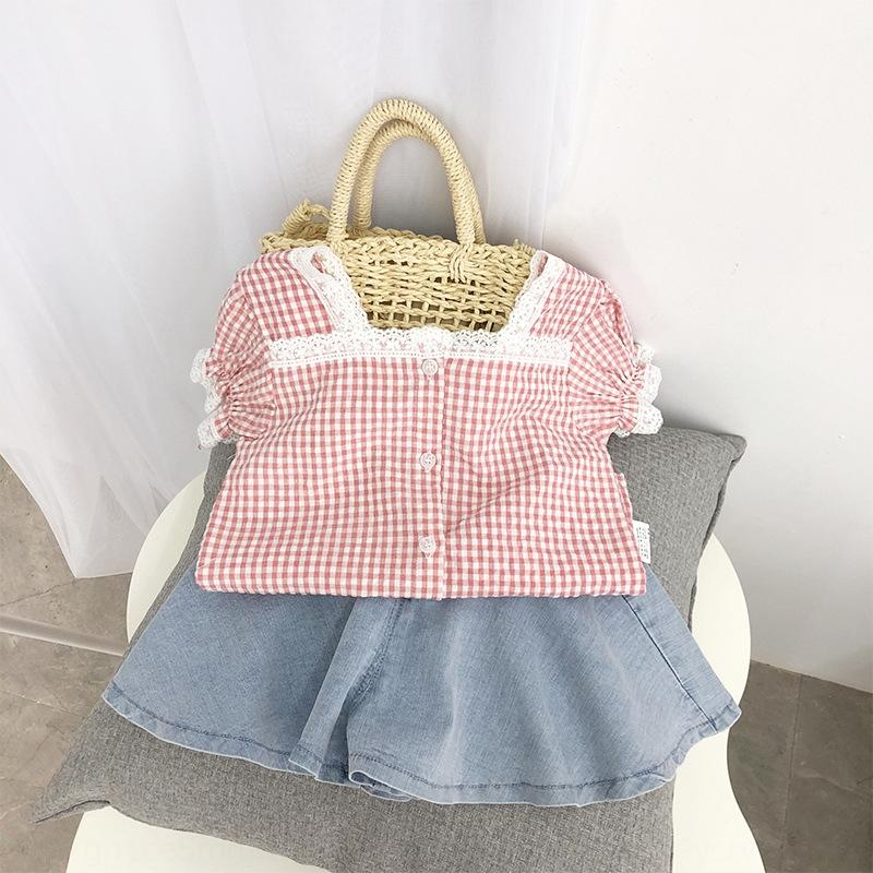 2020 novo verão baby girl meninas boneca Top moda boneca da moda camisa do bebê camisa xadrez superior para as crianças