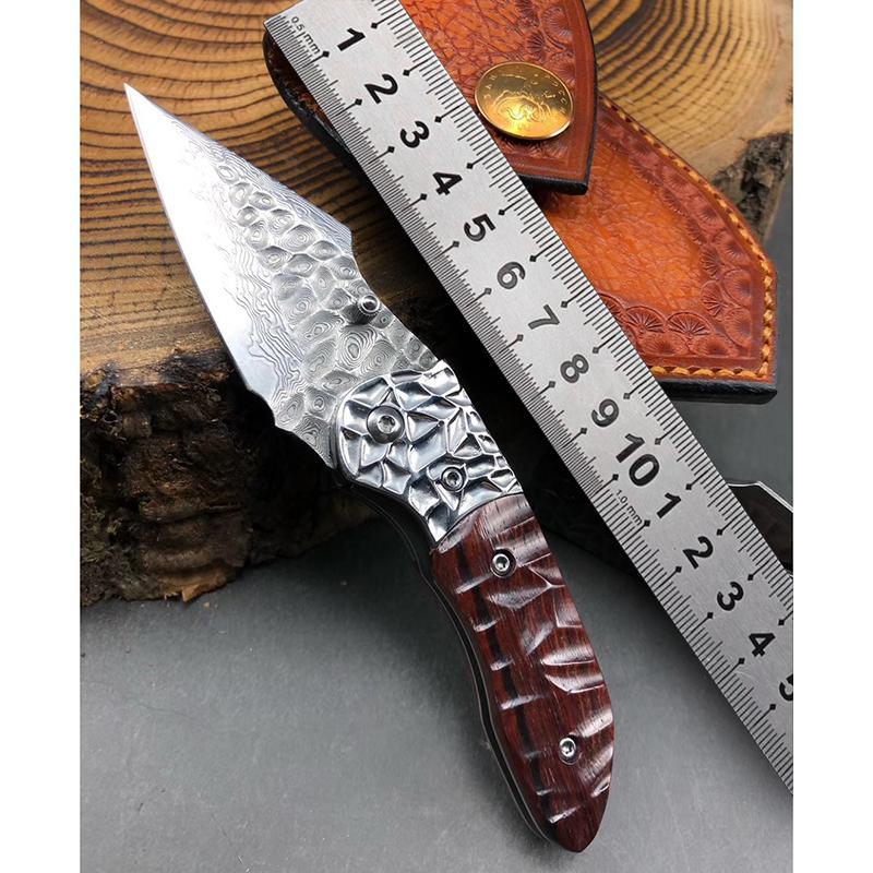 VG10 Şam çelik çakı EDC sağkalım katlanır bıçak yarar kamp kalem öz savunma rulman bıçakları için taktik avcılık bıçağı