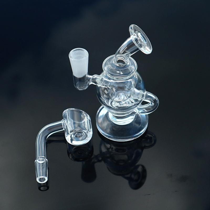 """4"""" mini forma Esquilo bong Bong pequeno tubo reciclador dab rig copo bong tubos de fumaça pipe água de vidro de vidro"""