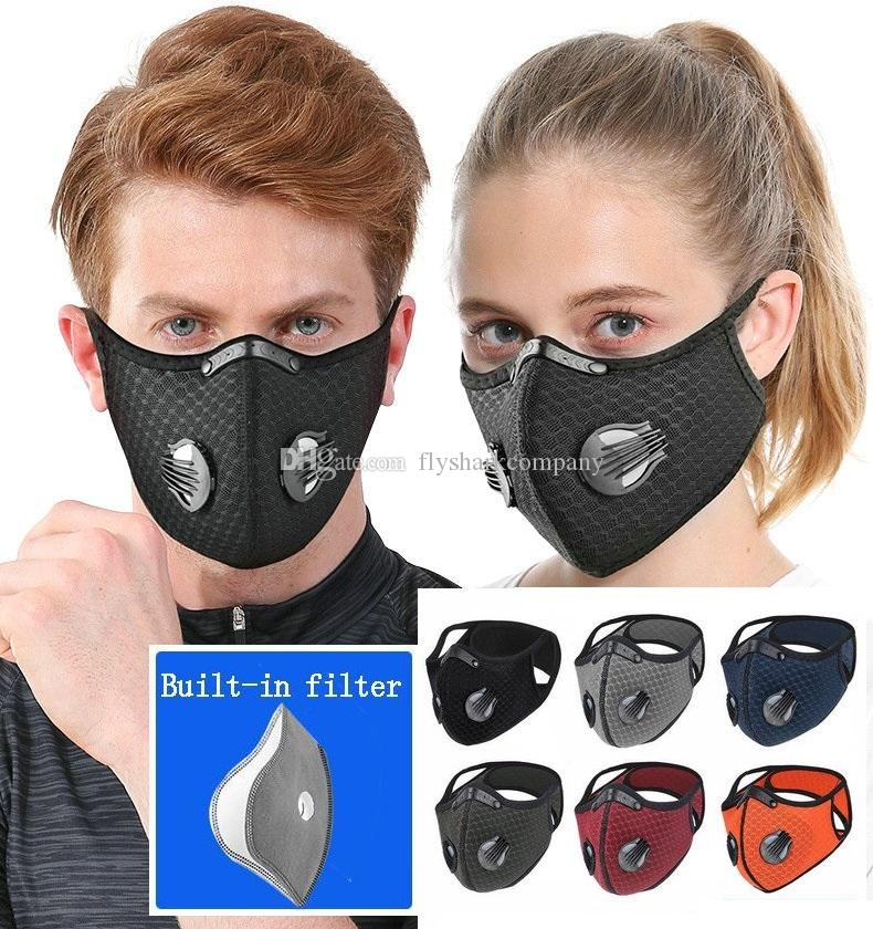 Cycling Mask With Filter Dust-proof Haze-proof Breathable Sun Protective Mask Men and Women Outdoor Sports Supplies Reusable Face Mask