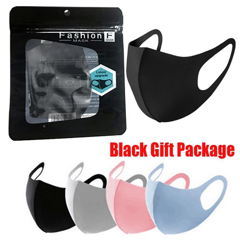 Masque de visage lavable à la bouche chaude Masque de visage Noir individuel Paquet anti-poussière PM2.5 respirateur Sacs de soie réutilisable anti-bactérien anti-poussière