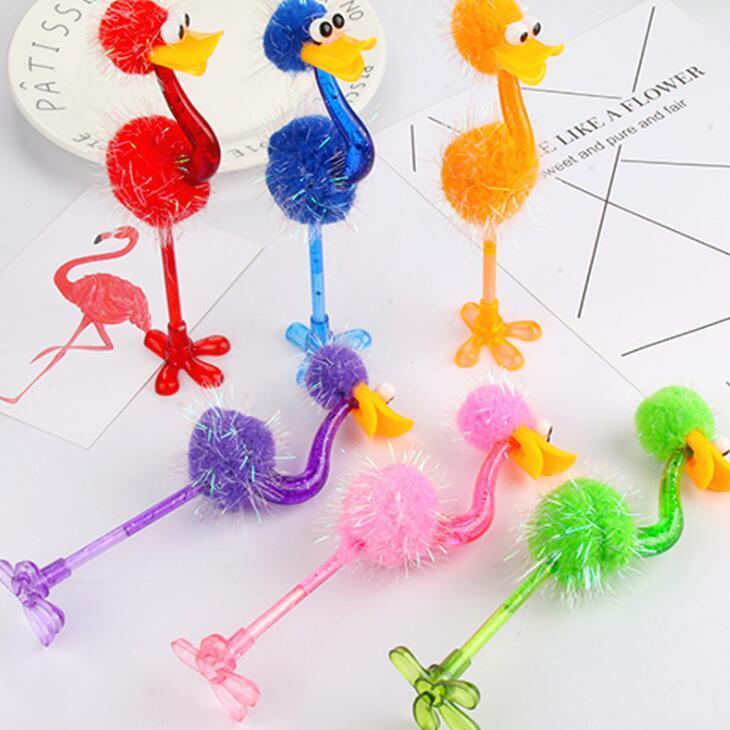 Забавный страус Шариковая ручка Студент Канцелярские Творческий мультфильм игрушки Ручки Офис школы Студенты Promotion подарки LX2403