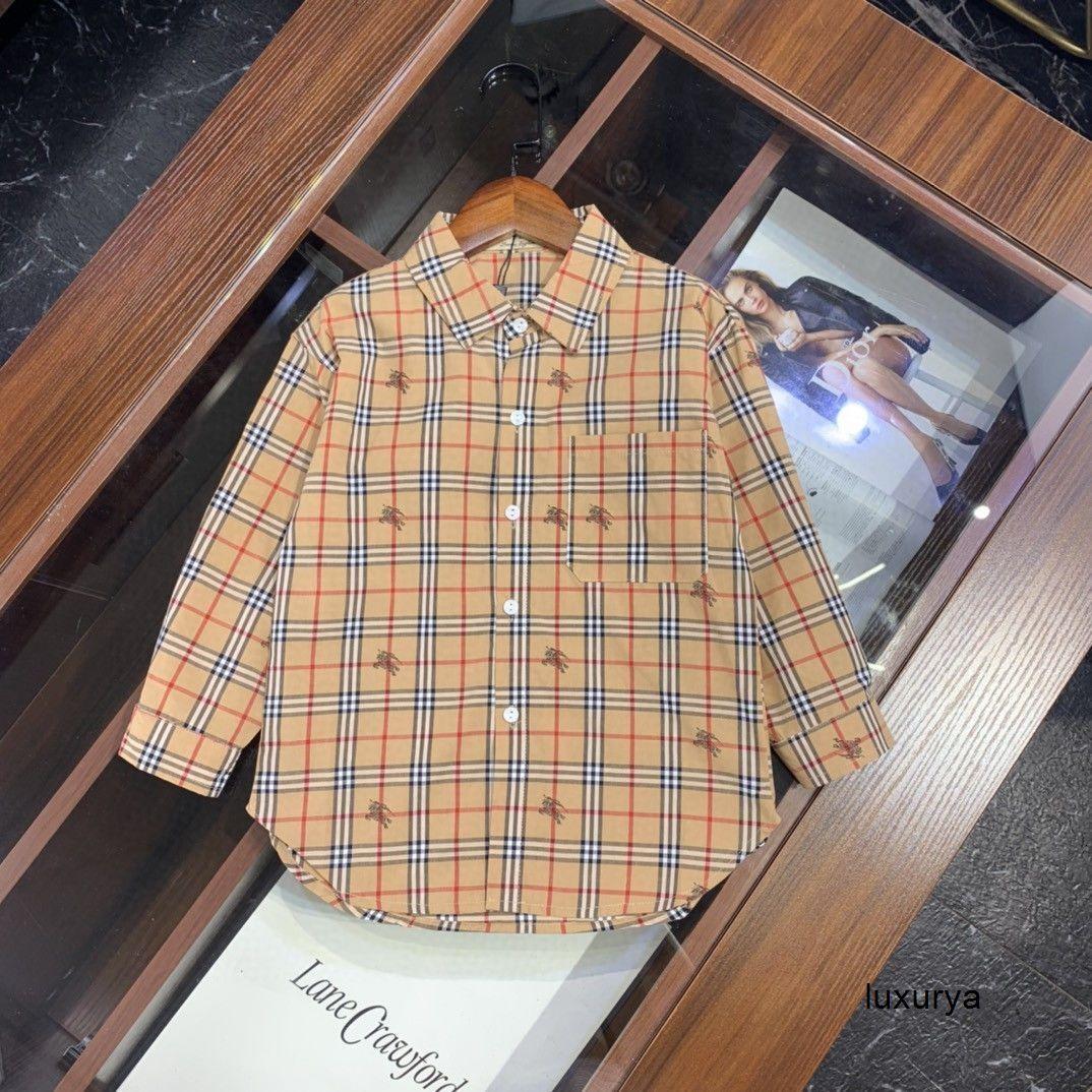 Летний корейский Дети с длинным рукавом Twinset Письмо одежды высокого качества девушки рубашку