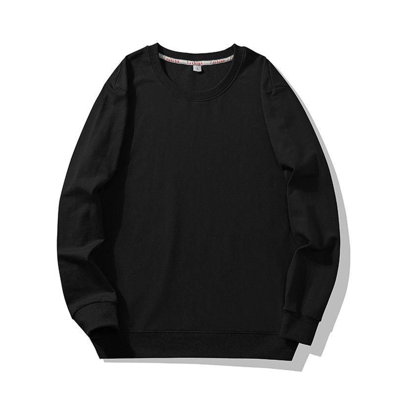 Crewneck Sweatshirt Men Cotton Casual Hip contínuo liso dos homens Hop japonês Streetwear Hoodie Black Men Moletons Masculino