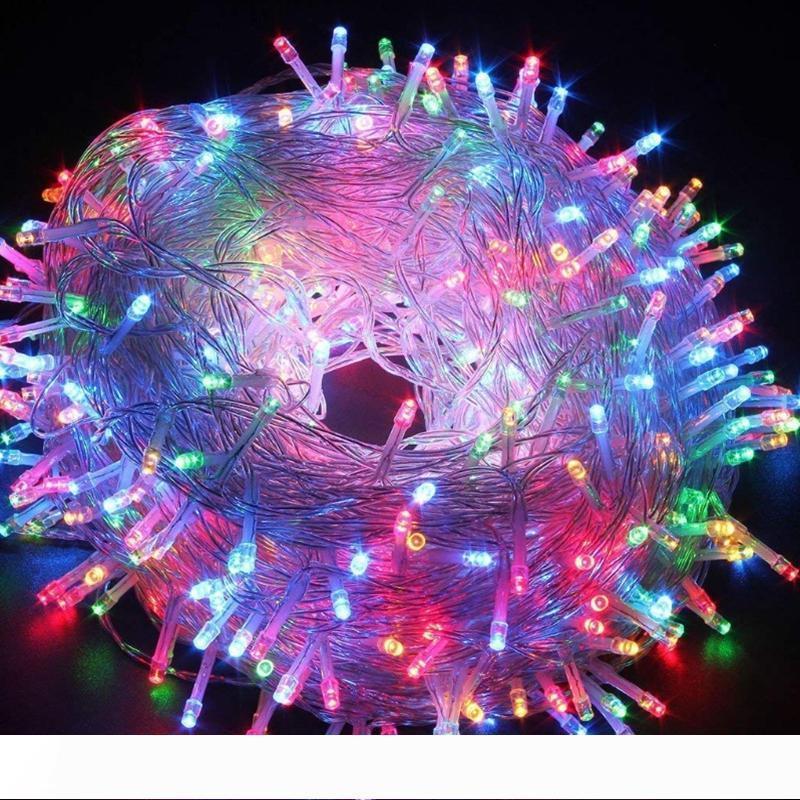 Noel Işıklar 10M 100LEDs Açık Işıklar Yatak Odası Avlu Kapalı Outdoor 110V su geçirmez 8 Modlar Dekoratif Aydınlatma