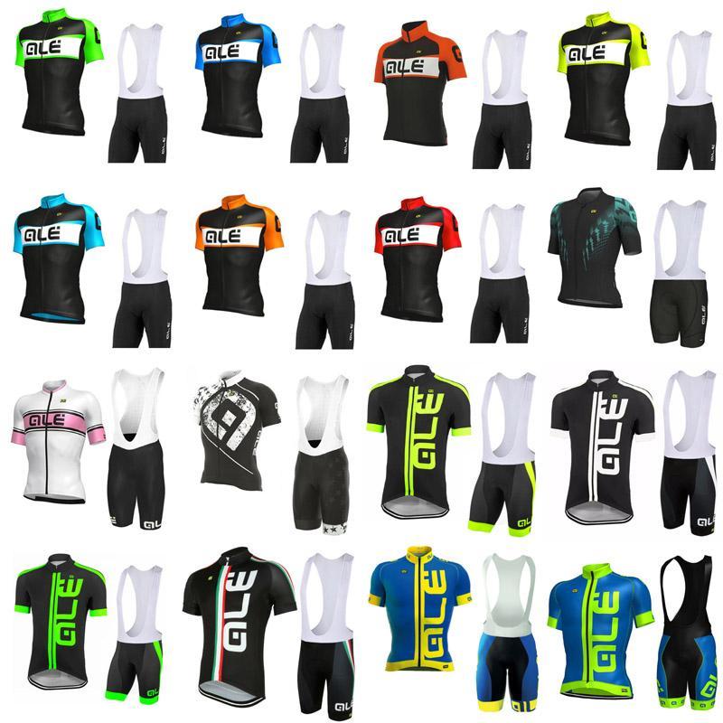 ALE TEAM 2020 Mens ciclismo Maglia manica corta Salopette insiemi dei vestiti della bicicletta Quick Dry MTB all'aperto Sport Ciclismo Ropa S072815