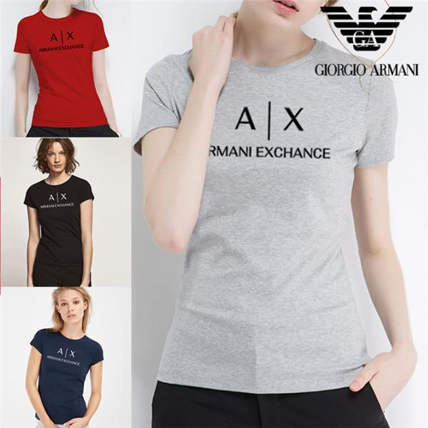 2020Fashion Women's T-shirt design 100% cotton, black, grey, red and yellow, round neck and short sleeve pretty printed T-shirt