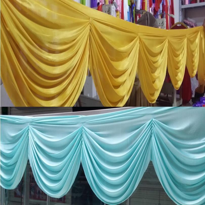 Tablonun etekler parti banket arka dekorasyon için düğün arka perdesinin yağma buz ipek kumaş Dekor düğün kumaşçılık tasarım