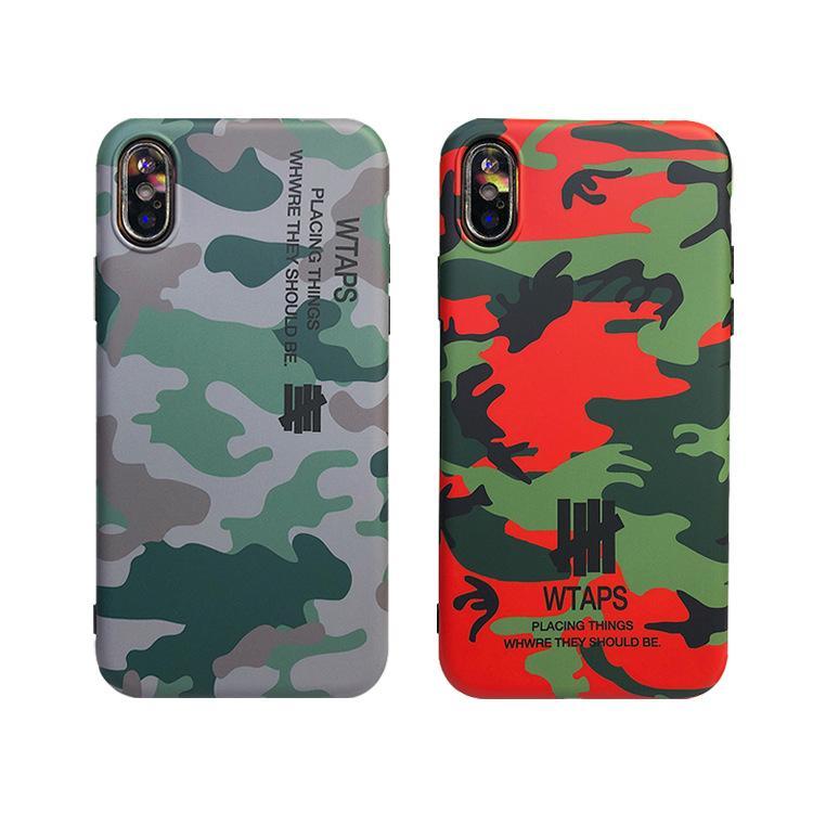Hohe Qualität Cool Armee Camo Tarnung Phone Cases für iPhone XS MAx XR XS für iPhone 6 6S 7 Plus X 10 armygrün Leder weicher TPU Abdeckungs-Fall