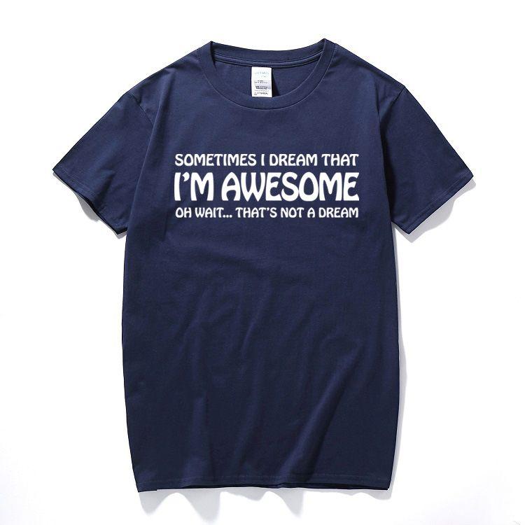 СОН Я УДИВИТЕЛЬНЫЙ Смешной Printed Слоган T Shirt Tee Top Gift Present Idea Мужская футболка из хлопка с коротким рукавом футболки Camisetas