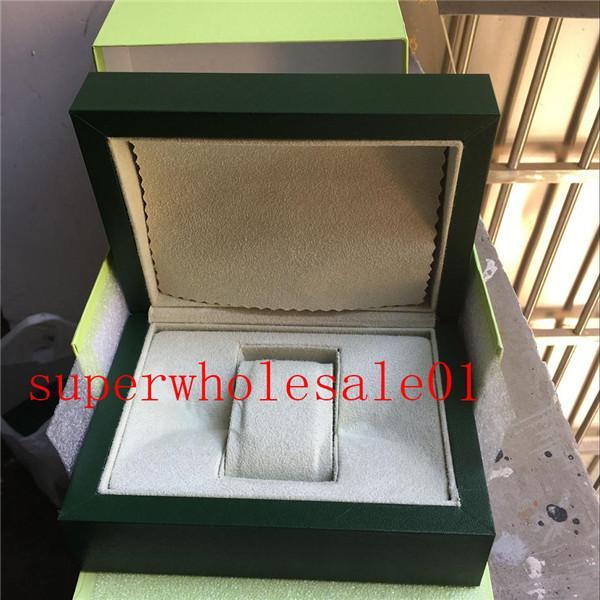 Las nuevas mujeres señoras de la manera Reloj de pulsera suizo Cajas Marca reloj de los hombres Caja verde y papel Para Relojes Rolex 5686