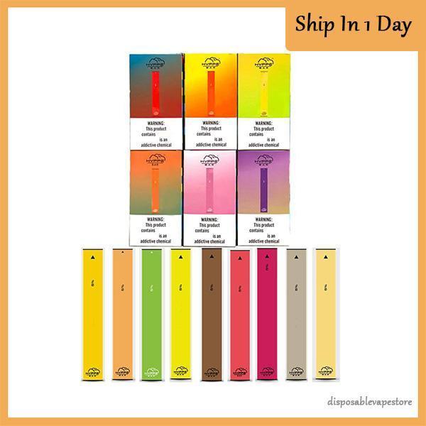 vape à usage unique HYPPE BAR 6 couleurs dispositif à usage unique Pod Kit 280mAh Cartouches Batterie Anti fuite Vape Pen de bouffée VS barres bâton bidi, plus
