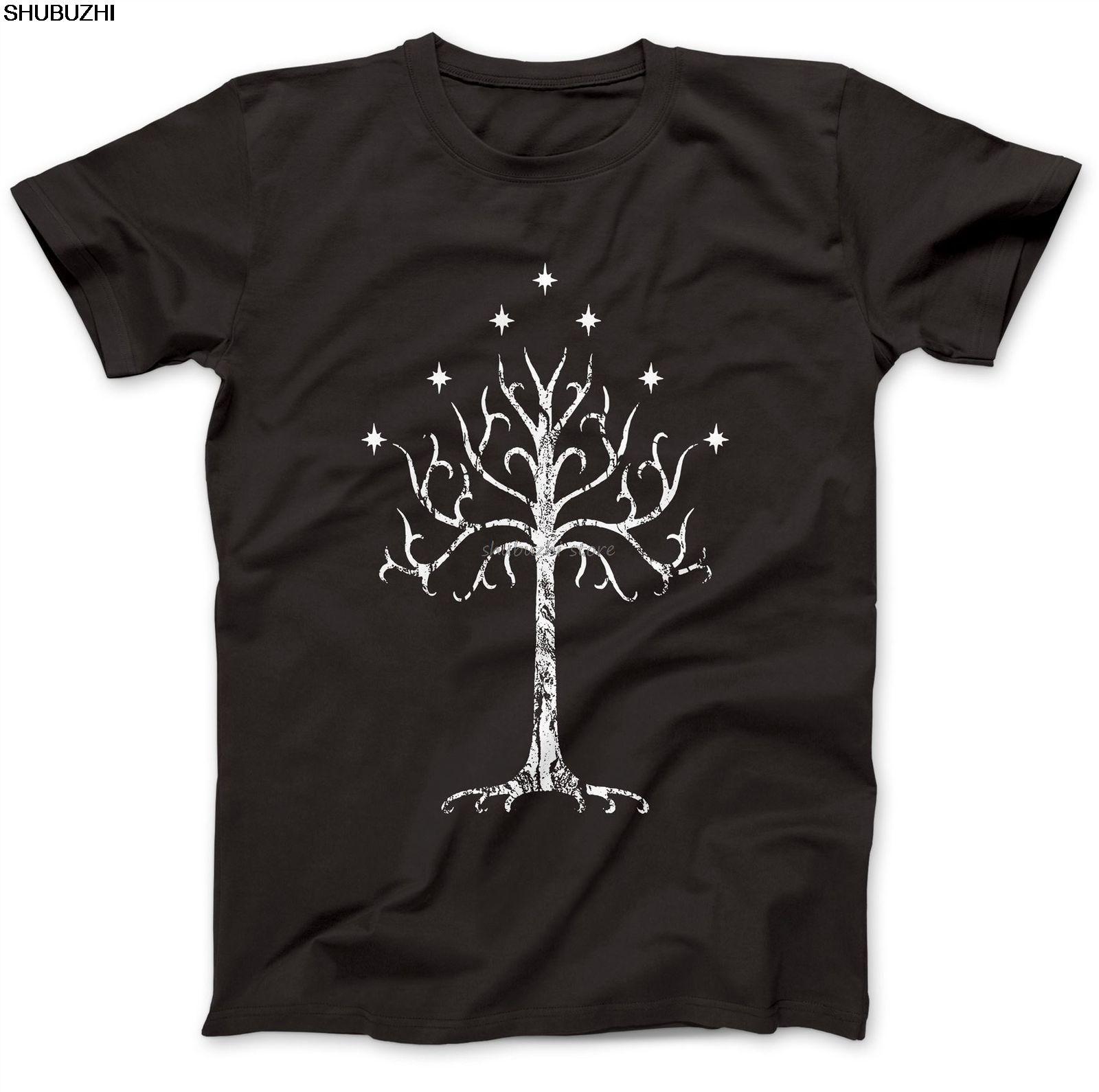Arbre blanc de Gondor Tolkien T-shirt 100% coton haut de gamme Mordor la Terre du Milieu sbz1054