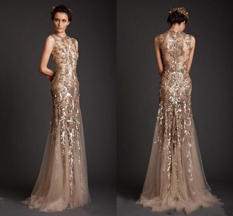 Dubai Árabe brilhante Lace apliques Prom Vestidos Jewel Neck 2020 Mermaid Formal Evening vestidos Illusion Trem da varredura Vestidos De Fiesta AL6606