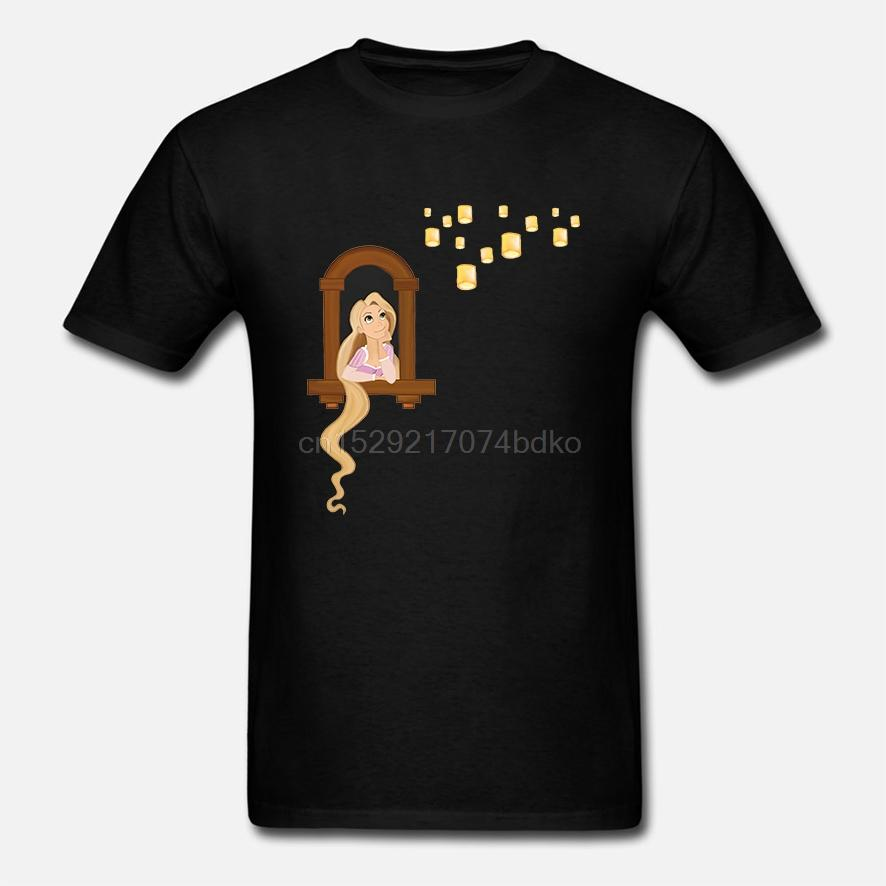 Stampato uomini della maglietta del cotone degli O-bicchierino-manicotto di nuovo stile Quando la mia vita comincerà Tangled T-shirt