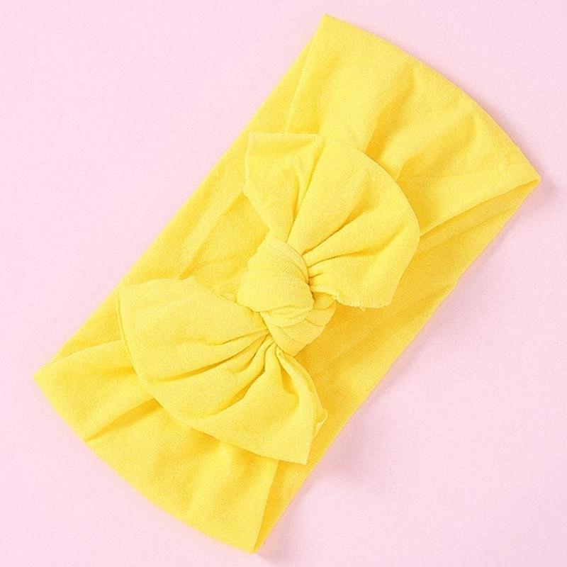 35 Farben Nylon Stirnband-Haar für Baby-dünne weiche Bogen-Knoten-Turban Haarbänder Babyzubehör für Kinder Kopfbedeckung M7B8 #
