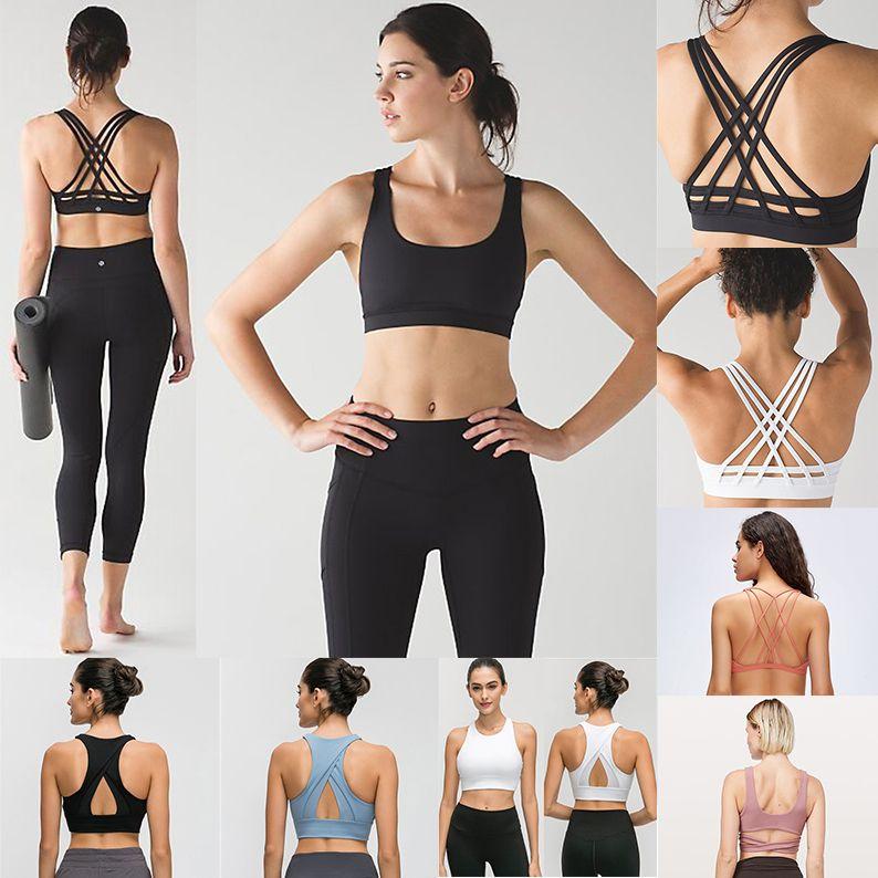 2020 LU Womens Designer Sports Camisoles Bra Top-Qualität Yoga Stylist Wäsche Set Frau Under Gym Vest Workout Bra Kleidung Behälter