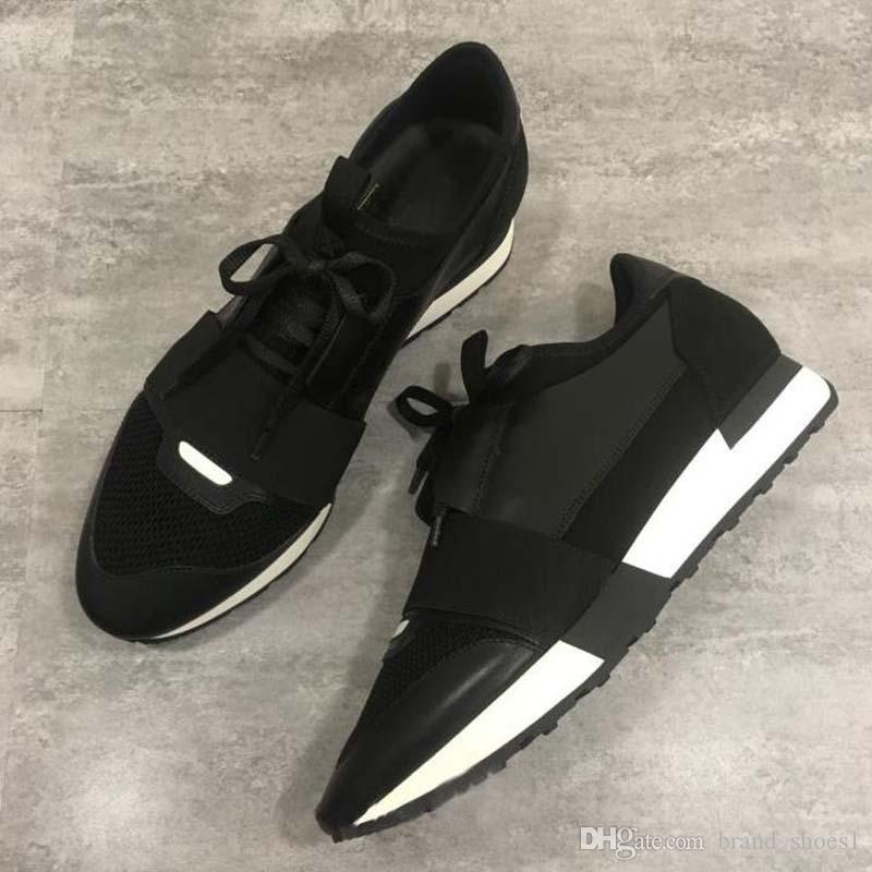 20020 Новый Человек женщина кожа Повседневная обувь Low Cut дышащая сетка тапки на открытом воздухе Кроссовки Runner обувь SneakerUS5-11.5 Rr2
