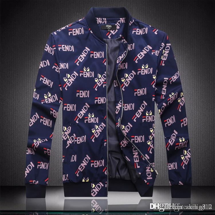2020 impressionante marca de moda designer de revestimento dos homens à prova d'água impressa jaqueta casual desportivo de manga longa blusão jaquetas de grife