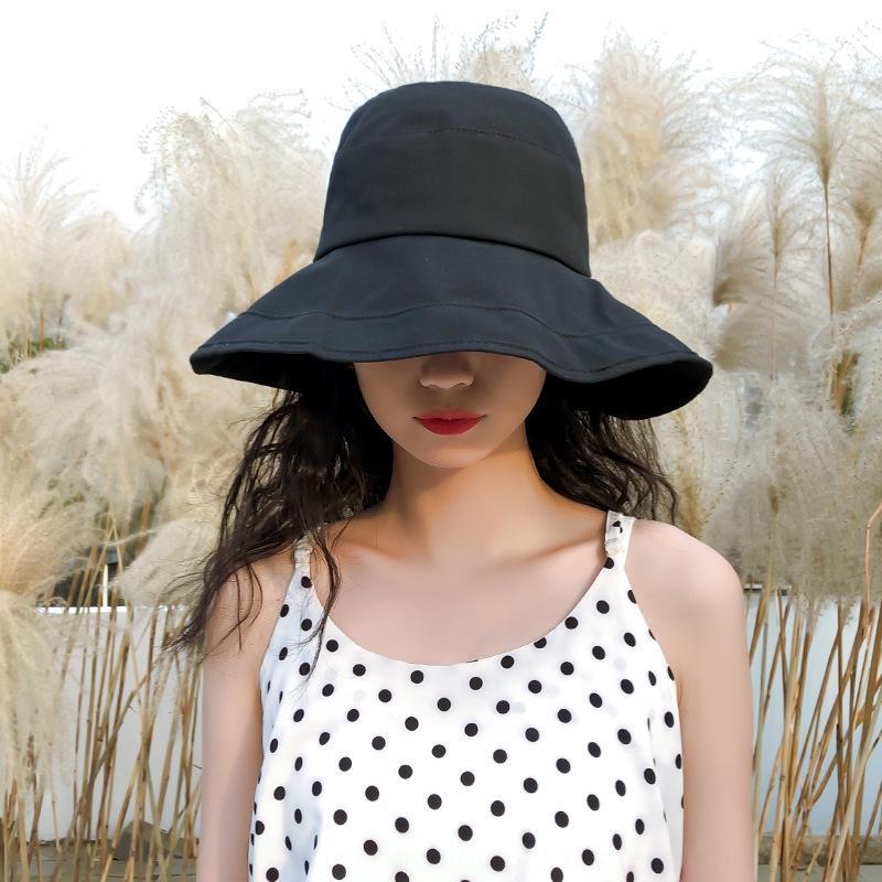 Balıkçı kadın düz renk balıkçı büyük saçak güneş güneşten gelen açık seyahat nefes plaj şapkası güneş şapkası