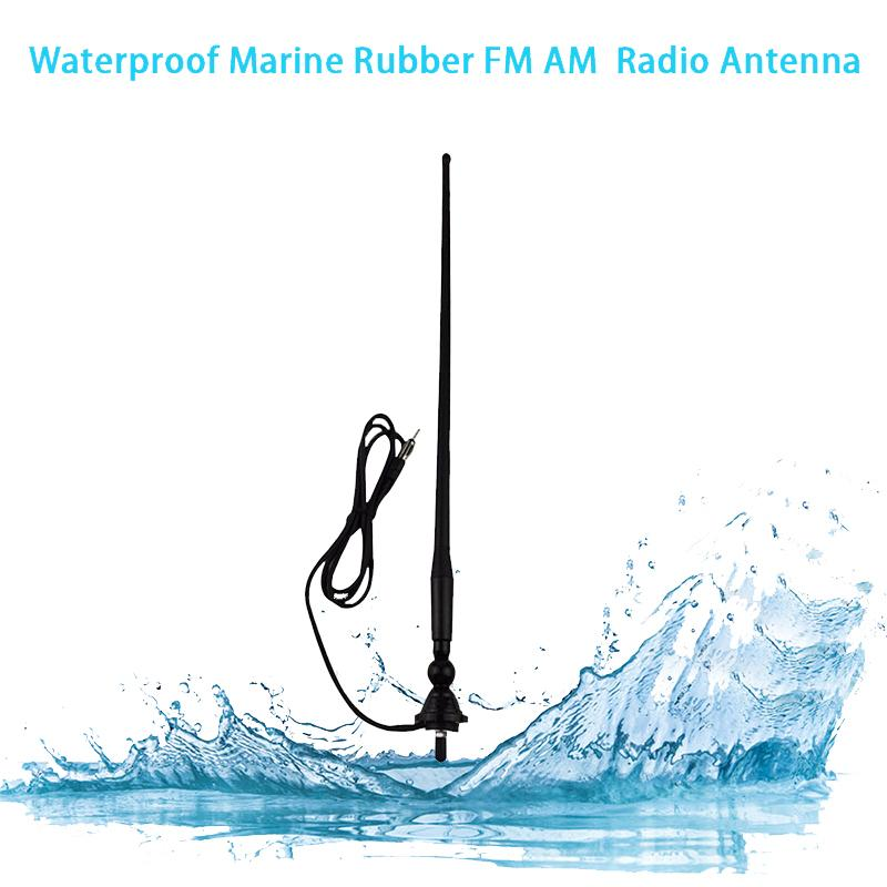 Marine Radio Antenna FM Receiver Signal Boat Rubber Aerial Duck Dipole Flexible FM AM Modulators For Car ATV UTV Yacht Tractor GPS