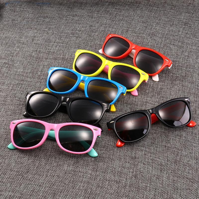 Kare Yumuşak Boys UV400 Marka Tasarım Kızlar Emniyet Çocuk Silikon