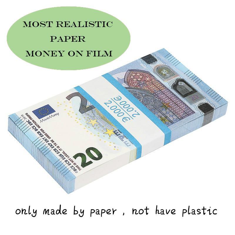 Фильм деньги евро 5/10/20/50 Бумага копия банкноты проп деньги евро 100шт / уп