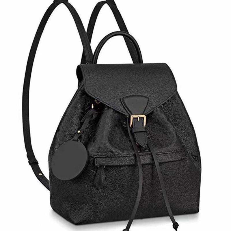 배낭 학교 가방 어깨 가방 이동식 어깨 스트랩 소 가죽 정품 가죽 패션 편지 패턴 문자열 블랙 고품질