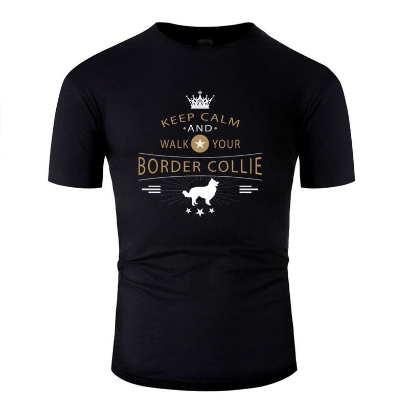 T shirt stampata divertente Border Collie Antirughe comico uomini e donne magliette Gents breve manica Hiphop Top