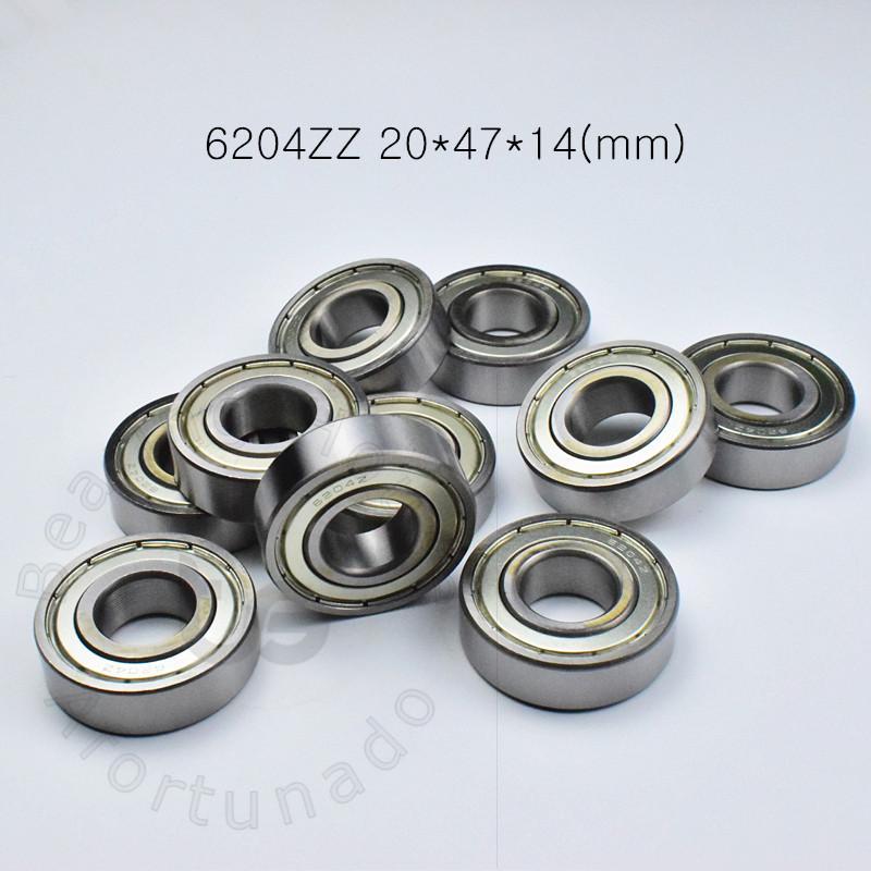 Cuscinetti tenuta 6204ZZ 1Piece cuscinetto metallo di trasporto 6204 6204Z 6204ZZ 20 * 47 * 14mm CROMO ACCIAIO rigidi a sfere