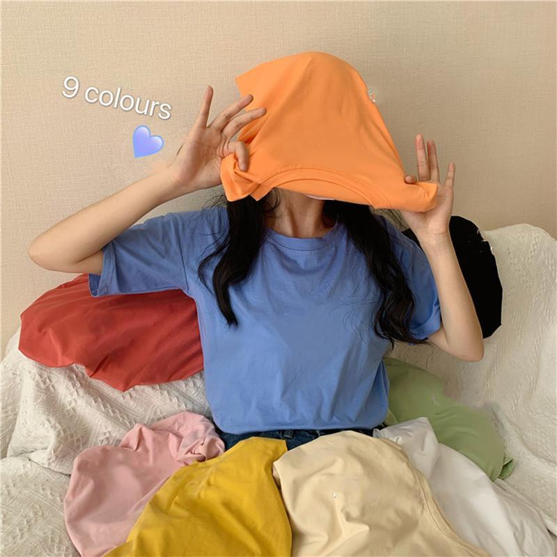 Harajuku mujeres de gran tamaño camiseta de las camisetas del verano Ropa de segunda camisas EGirl 2020 Tops lindo blanco de la manera libre de Calle Negro