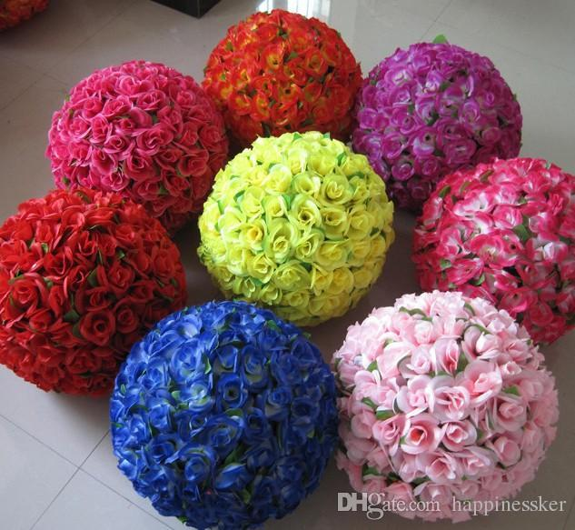 50CM Wedding Shooting Props Kissing Balls Artificial Flower Ball Ornament Shopping malls opened Decoration Free Shipping