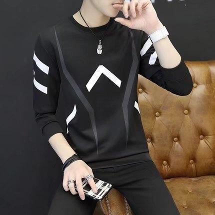 Осень и зима мужская футболка с длинным рукавом Футболка тонкий футболку свитер дышащей фитнес спортивный досуг длинным рукавом с капюшоном тонкий свитер