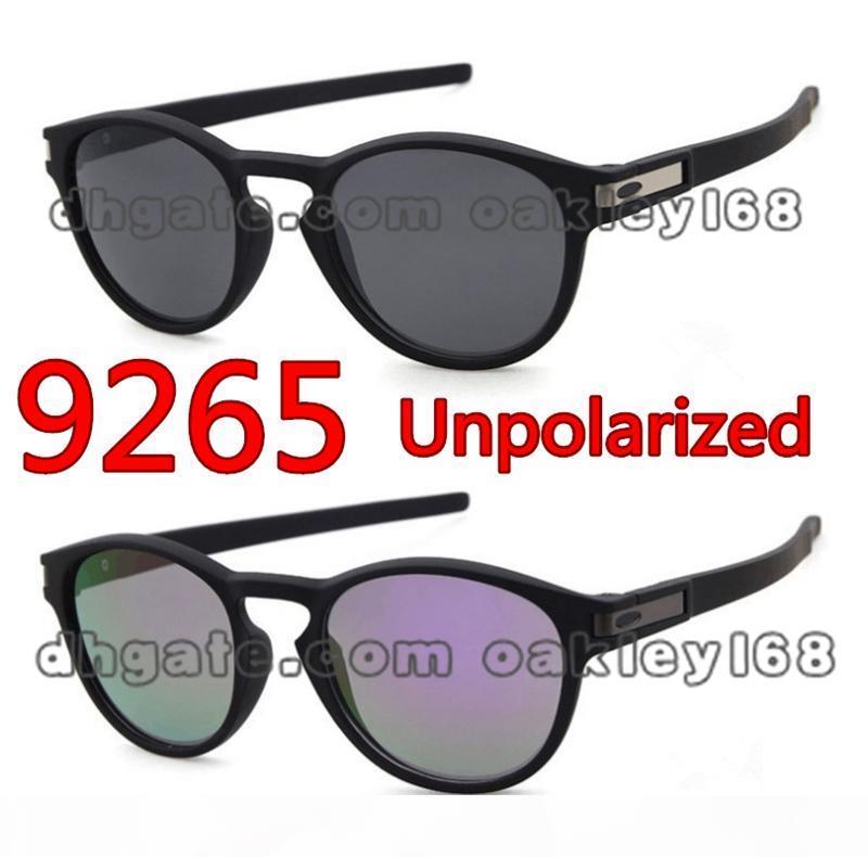 مصمم أزياء النظارات الشمسية LATCH 9265 جولة خمر إطار نظارات شمسية الصيد الرياضة للرجال والنساء نظارات شمسية مع القضية، وعلبة