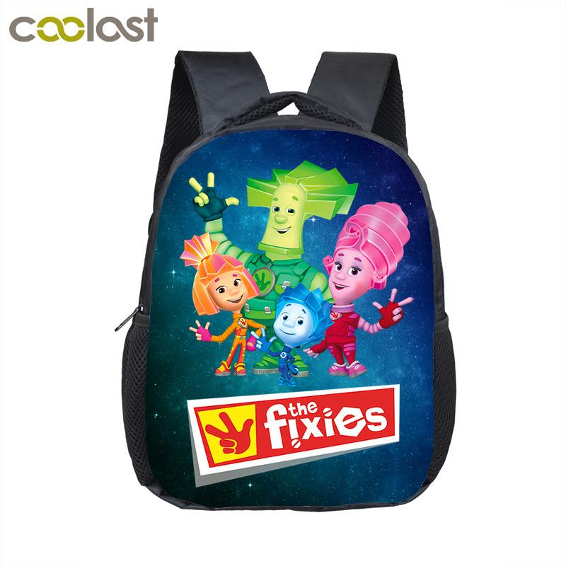 Funny Russian Cartoon The Fixies Backpack For Boys Girls Children School Bags Kids Small Shoulder Bag Kindergarten Backpack