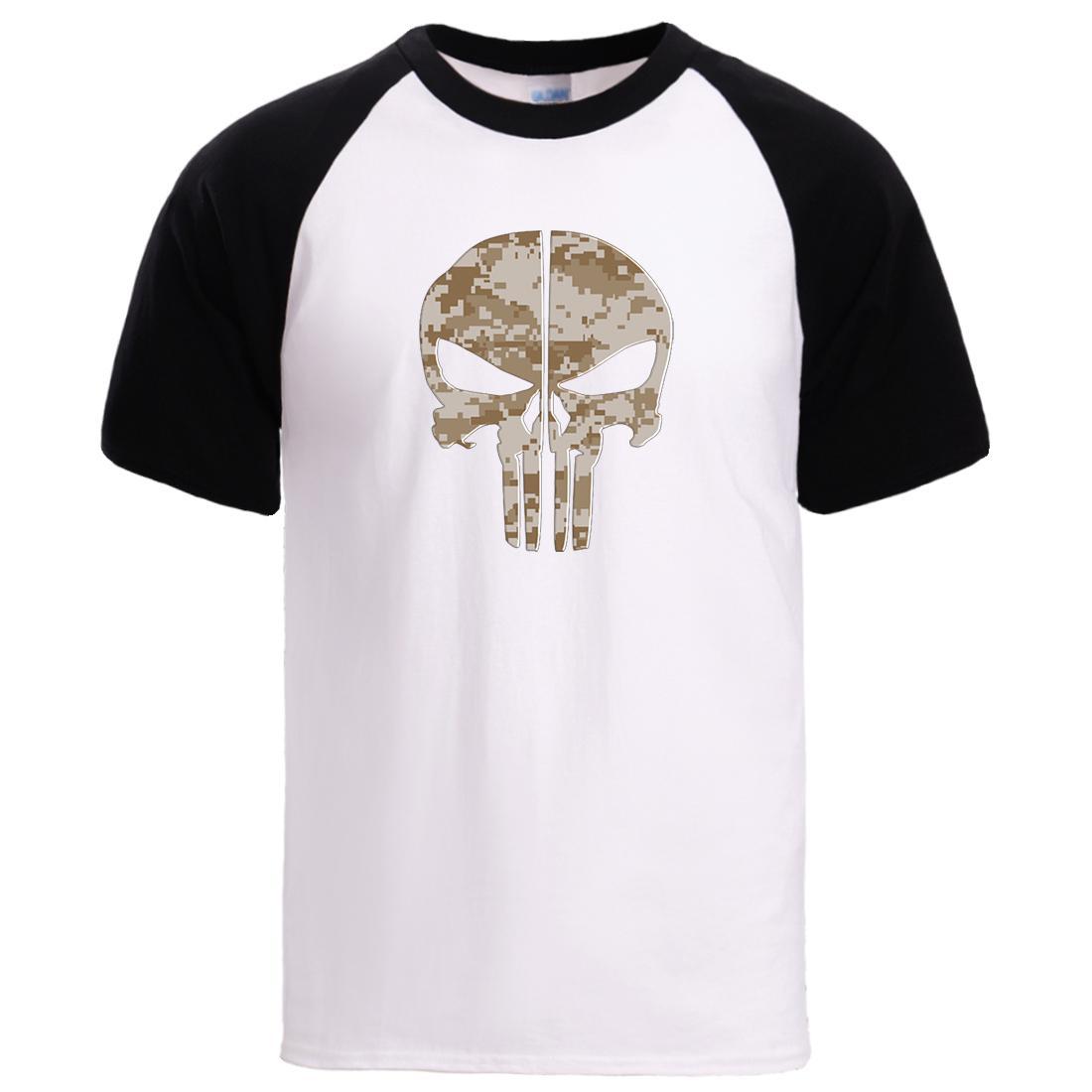 Horror cráneo camisetas para hombre de la camisa 2020 de primavera y verano de manga corta de algodón de deporte T varón de alta calidad Loose Fit Enfriar Pullover